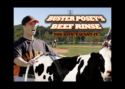Buster Posey's Beef Rinse
