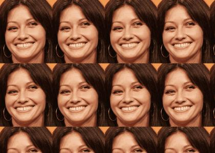The creepy uneven eyes of Shannen Doherty