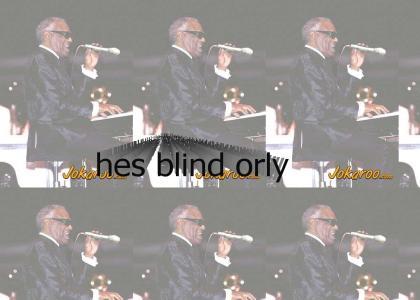 I think hes blind??
