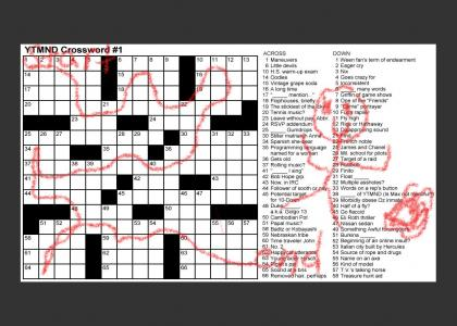 Solved YTMND Crossword #1