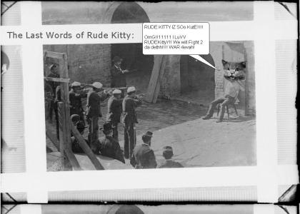Rude Kitty Prepares for the End