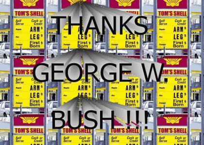 THANKS GEORGE W. BUSH !!!!!!!