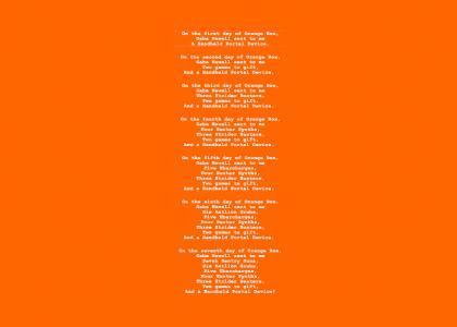 The Seven Days of Orange Box