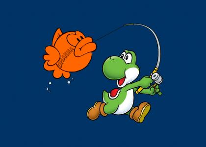 Yoshi got himself a Fish Biscuit