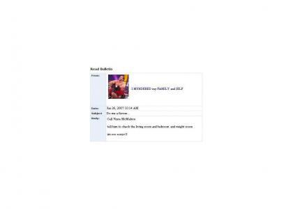 Chris Benoit Myspace Suicide