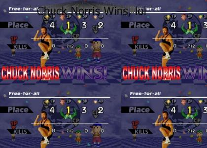 Chuck Norris Pwns at Super Smash Bros.