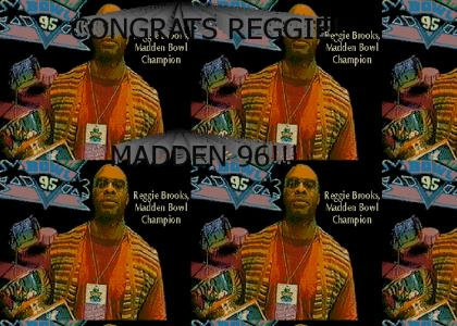 Reggie Brooks Madden Bowl Champ
