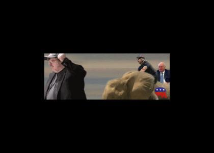 Republicans Hunt Michael Moore!
