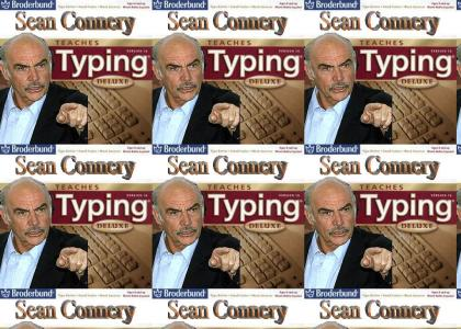 Sean Connery teaches typing!