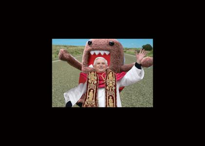 The Pope runs from Domo Kun