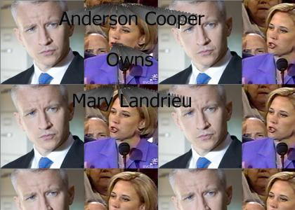 Anderson Cooper Owns Mary Landrieu
