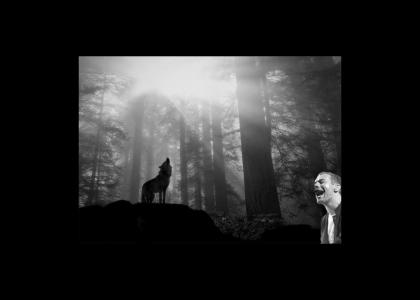 Chris Martin Communicates with a Wolf