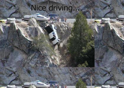 Guy fails at driving