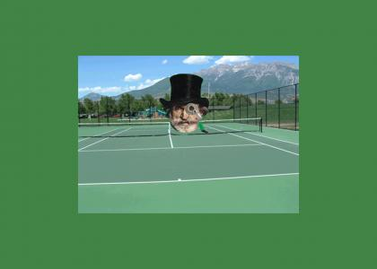 Top Hat Cyborg is a Master of Tennis and Defeats the Ninja Turtles For The Glory of The Lord
