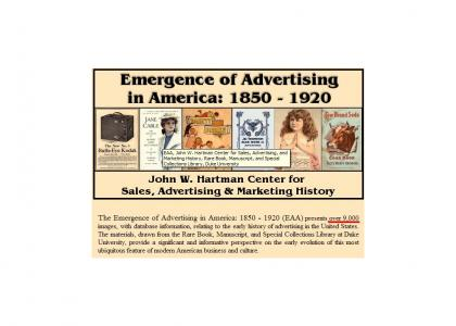The Emergence of Advertising in America is....