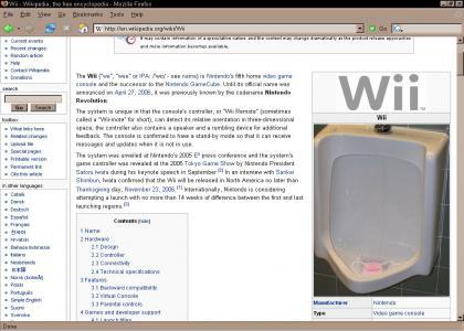 Wii on wiki