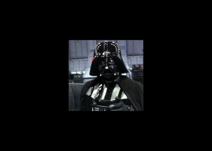 Darth Vader doesn't change facial expressions...