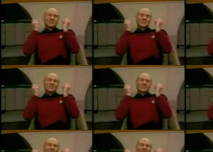 Picard is having a wonderful time