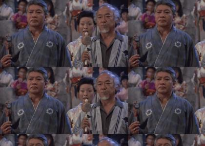 Mr. Miyagi Gets His Crunk On