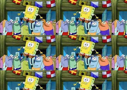 A clan of Birdos in Spongebob the Movie!