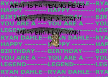 Happy Birthday Ryan Dahle