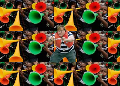 Chris Farley is Attacked by Vuvuzelas