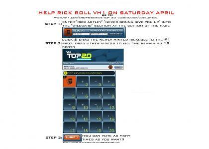 RickRoll VH1 on April 26th