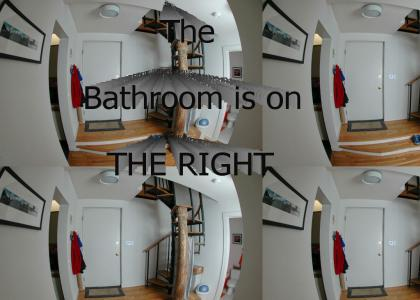 Bathroom on the right