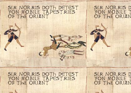 Medieval Chuck Norris hates anime