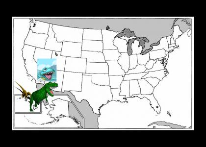 Prehistoric Dinosaur travels the 50 states
