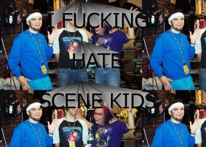 i hate scene kids.