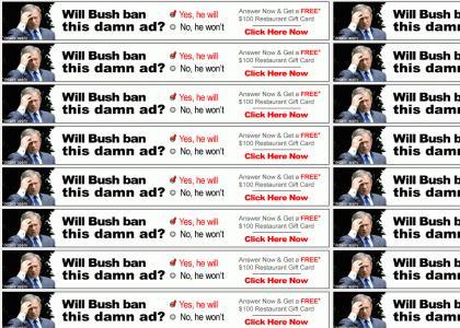 Bush faces YTMND ad decision