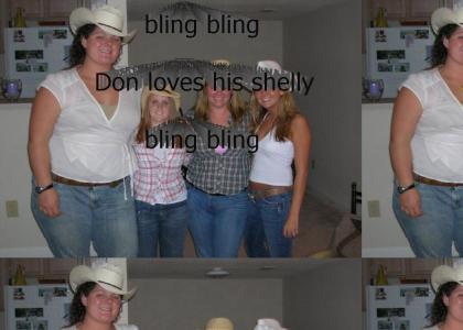 bling bling Don loves his  shelly bling bling