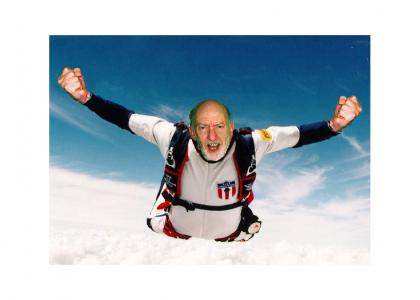 I'm going to jump out of an airplane every day until I can fly...