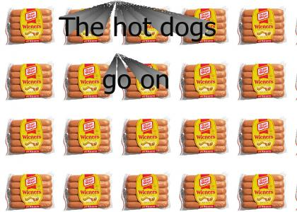 Hot dogs go on