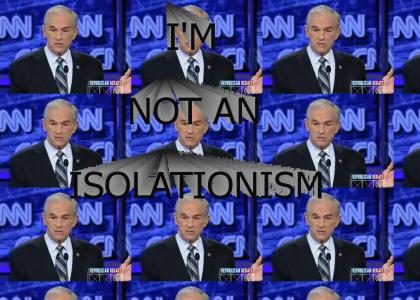 I'M NOT AN ISOLATIONISM