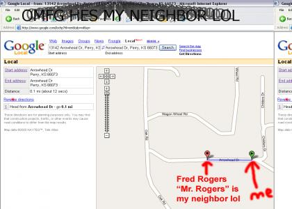 Mr. Rogers is my neighbor!!!
