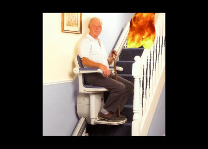 In case of fire, use stairs. *Improved*