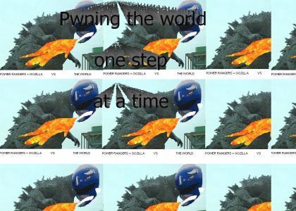 Godzilla and Power Rangers unite