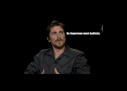 Christian Bale takes on Superman