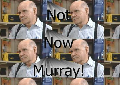 Not now, Murray!