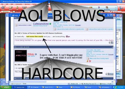 PROOF I DON'T SUPPORT AOL