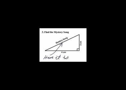 Student finds mystery song on math test!