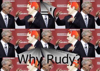 Giuliani Clown makes Ron Paul sad...