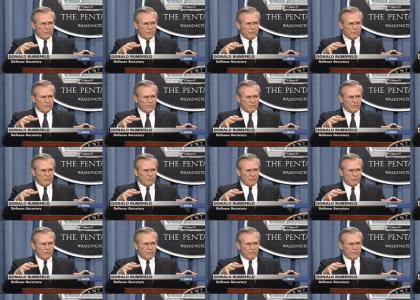 Donald Rumsfeld gets down