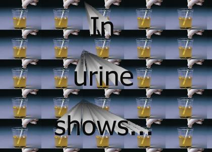 In urine shows