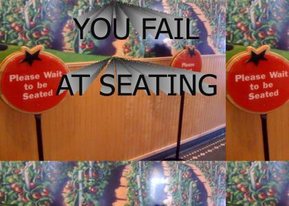 Restaurant Seating FAIL