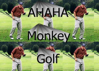 A Monkey Playing Golf!! ROFL!!! 2