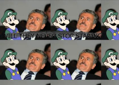 Weegee and Scatman watch each other closely