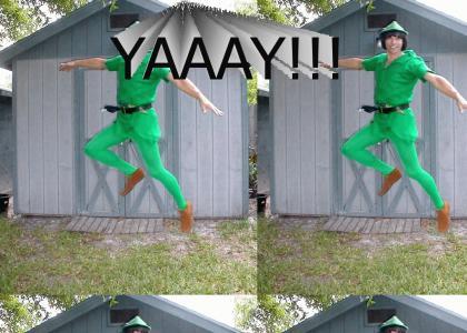 Peter Pan is having a wonderful time